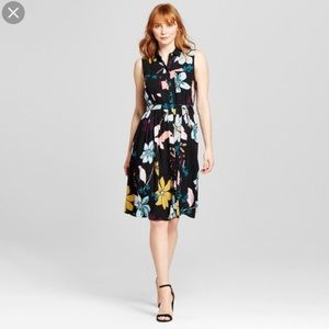 Who what wear floral black dress